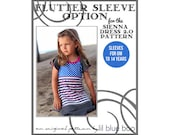DIY PDF Pattern and Tutorial - Flutter Sleeve Option for Sienna Dress 2.0