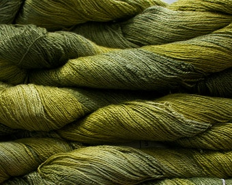 Fine Bamboo, Hand Painted yarn, 300yds - Leaf