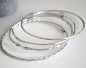 Set of Aluminium Bangles - Set of 2, 3 or 4 to mix and match