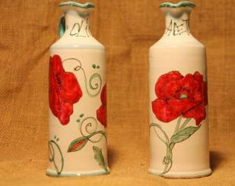 oil vinegar dispensers table poppy