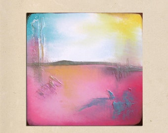 paradise - 24 x 24, original modern contemporary acrylic PAINTING canvas, abstract art by shanna