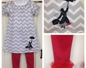 Mary Poppins Peasant Dress - Sizes 3mos - 8yr
