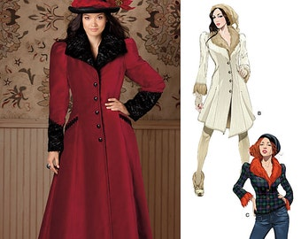 Ladies' Designer Coat and Jacket - Simplicity 1732 - New Sewing Pattern, Sizes 6, 8, 10, 12, 14