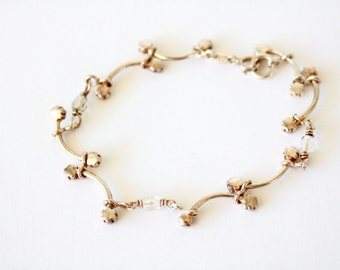Sterling Silver Bracelet with flowers
