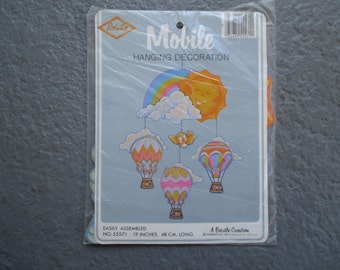 Vintage Beistle MOBILE Pieces 80s Hot Air Balloons Rainbow Sun Bird Classroom