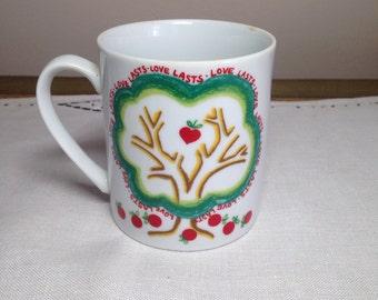 Vintage Mug LOVE LASTS San Francisco 1980 Counterpoint Cup