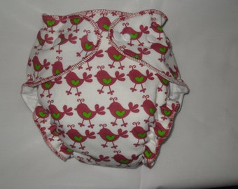 Chick fitted diaper