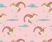 Riley Blake Fabric Unicorn Main Pink