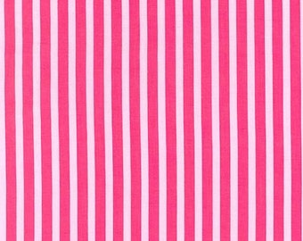 Michael Miller Fabric Clown Stripe girl pink, Choose your cut
