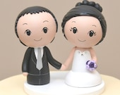 Topper for the month of February  -Poofy skirt topper -Kokeshi Cake Topper - Custom Cake Topper
