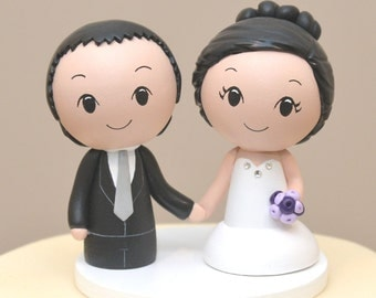 Topper for the month of December-Poofy skirt topper -Kokeshi Cake Topper - Custom Cake Topper