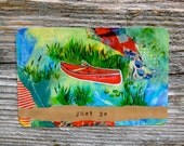 STICKER - Red Canoe // Just Be - Gift - Adventure