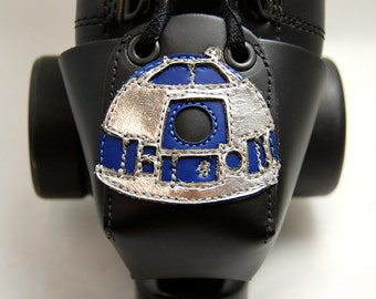 Leather Toe Guards with R2D2