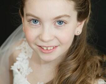 Luxury Rhinestone childrens browband circlet bun wrap crystal designer diamonte flowergirl bridesmaid first holy communion hair accessories