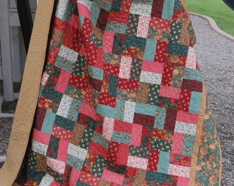 Twin bed quilt Winter Garden large sofa size Graduation Gift 68 by 78 college grad gift Quiltsy Handmade