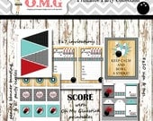 Vintage Bowling Party Package  by Oh My Gluestick