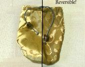 Gold and Brown Dice Bag - medium size