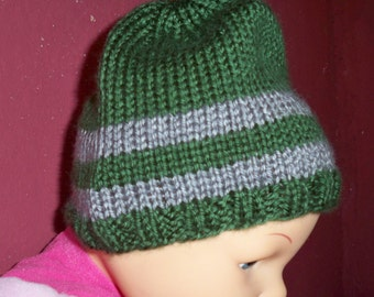 Child's Hat in Slytherin Colors