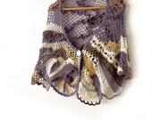 Freeform crochet capelet. OOAK poncho. Boho mohair capelet. Lace crochet stole. Crochet cape.