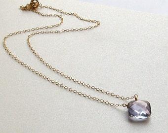 JASMINE- elegant mystic blue quartz necklace