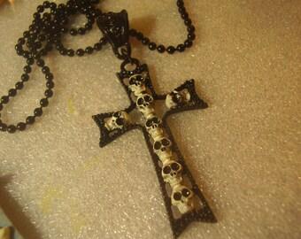 Handpainted Skull Cross