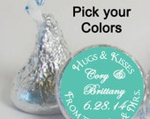 wedding favors candy stickers (No.k1) from the mr and mrs custom personalized customized turquoise
