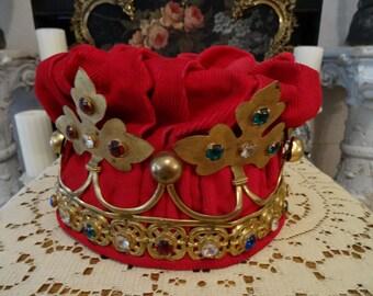 SALE GORGEOUS Vintage LIFESIZE Odd Fellows Masonic Religious Jeweled Crown