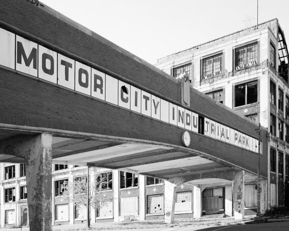 Items similar to detroit photography packard plant in for Motor city detroit mi