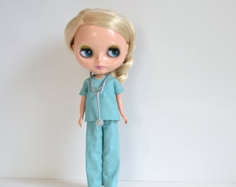 Blythe - Sassy Scrubs for Doll Hospital Doctor or Nurse