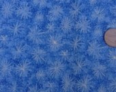 "Blue Starburst100% Cotton Fabric Remnant 12"" X 44"""
