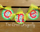 One 1st Birthday Very Hungry Caterpillar High Chair Banner Hot Pink, Camouflage, Brown