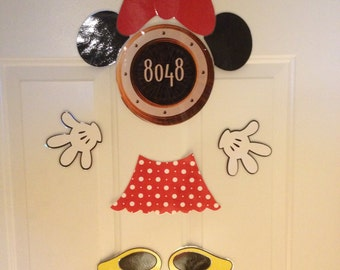 Minnie Mouse Body Part Stateroom Door Magnets for Disney Cruise