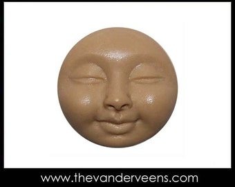 Mold No.119 (Full moon tiny Face with Closed eyes) by Veronica