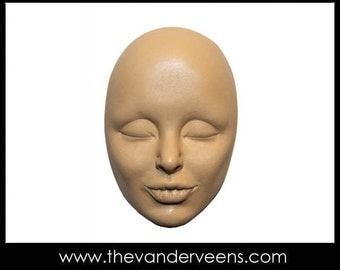 Mold No.195 (Face - Cheekbones with closed eyes) by Veronica Jeong