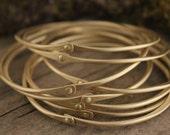 Hammered Bangle Bracelets in Brass, Copper, or Silver