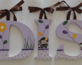 Lavendar Jacana Inspired Wall Letters