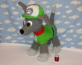 MADE to ORDER. Paw Patrol inspired Rocky. An original crocheted design .