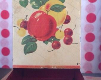 Vintage Hanging Red Match Box Holder