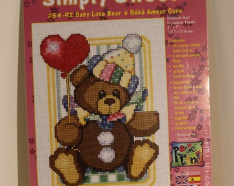 Baby Love Bear Counted Cross Stitch Kit