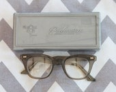 Vintage 1960s Retro Cat eye Safety Plant Glasses With Case