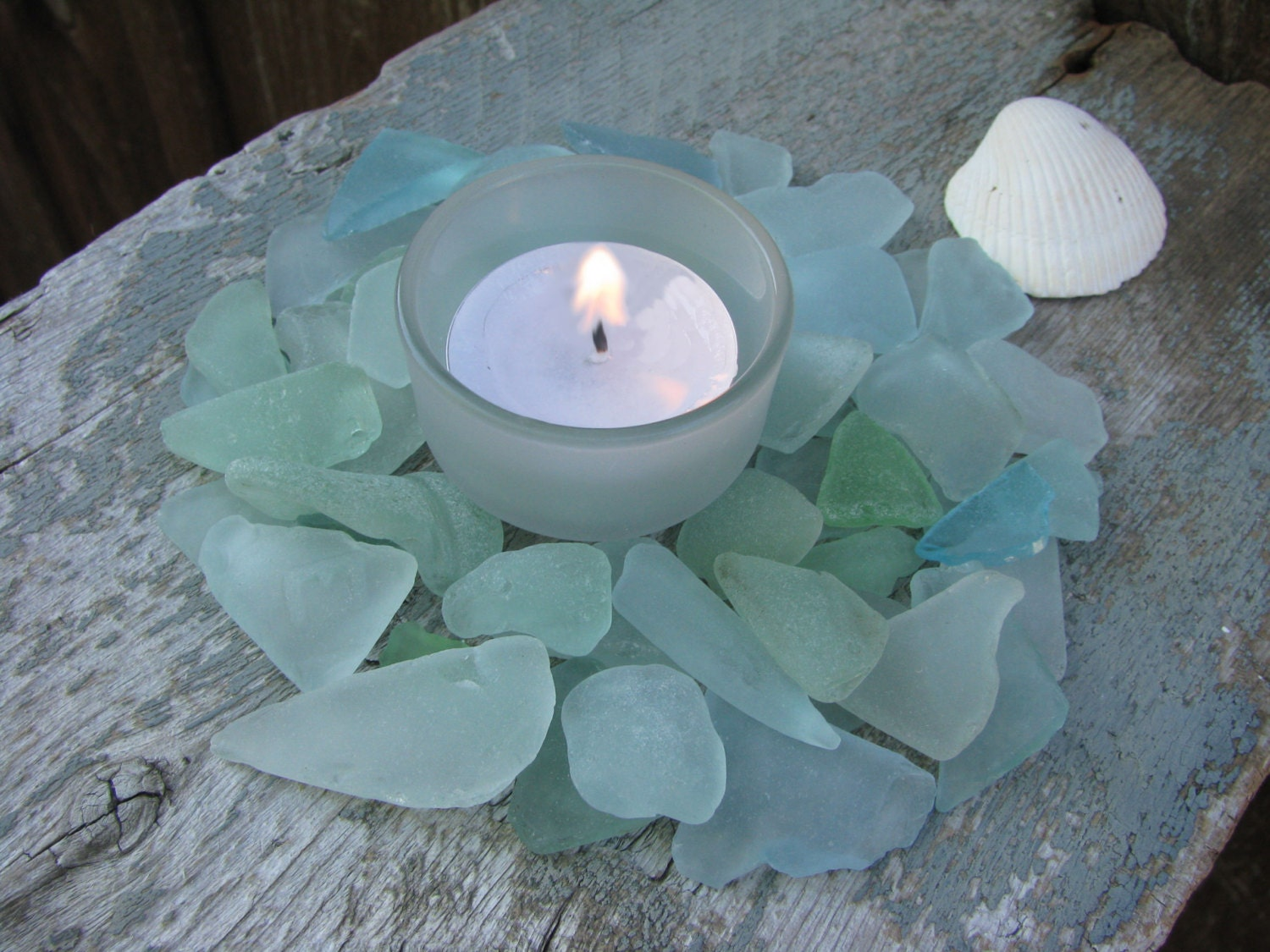 Aqua Blue Sea Glass for Wedding Decor Blue Sea by buythebeach