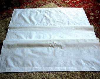 Pillow Case Wrap Bed Runner or Crib Sheet Vintage Antique White Muslin Bed Linen