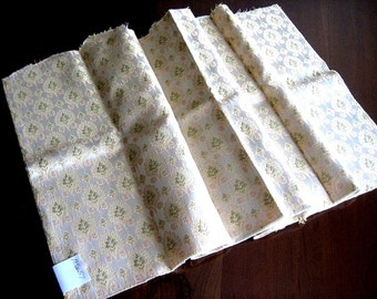 Vintage Fabric Cloth Sewing Yardage Antique Feed Sack Print Retro Quilt Quilting GORGEOUS Heavy Renaissance Brocade