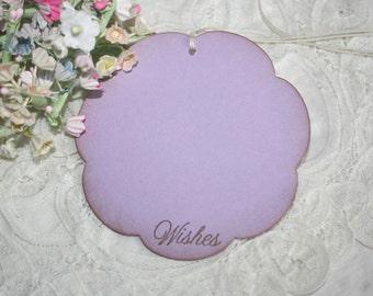 Wish Tree Wedding Tags - Lilac Flowers - Purple Flowers - Birthday Wish Tags - Shower Wish Tags