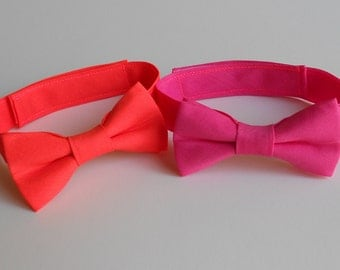 Neon Orange or Hot Pink Bowtie - Infant, Toddler, Boys