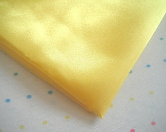 "Yellow Satin Lining Fabric, 60"" Wide, BTY"