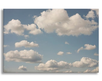 Cloud Photo on Canvas, Nature Fine Art Photograph Gallery Wrapped Canvas, Home Decor, Large Wall Art