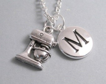 Kitchen Mixer Charm Silver Plated Charm Cooking Charm Mixer Charm Baking Charm Supplies