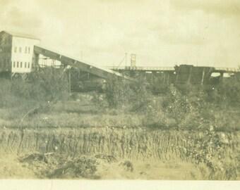 Coal Tipple Building Mine Miners Mining 1920s Antique Vintage Black White Photo Photograph