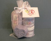 Lavender Small Gift Set - Bar of soap - Creamy Soap - Sugar Scrub - Hand and Body Lotion